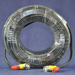 100 Feet Ft Premium Premade Coaxial Siamese Cable White//Black wholesale lots